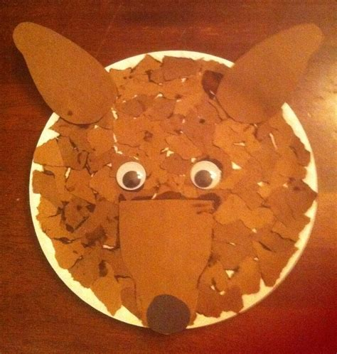 Wolf Paper Plate Craft - wolf craft arts crafts