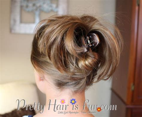 easy updos using claw clips on long hair beginner hairdos great for short hair short hairstyles