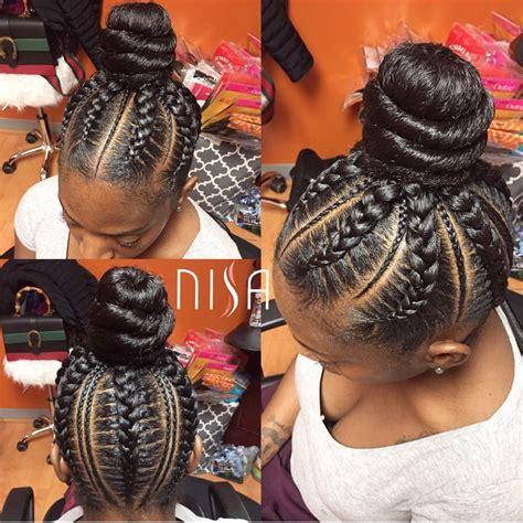 parting hair when braiding a ball cute bun nisaraye read the article here http