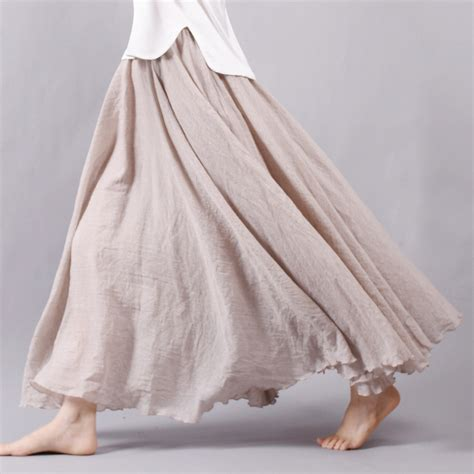 buy wholesale linen maxi skirt from china linen