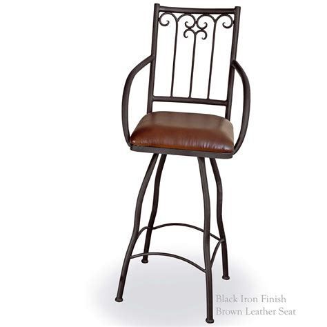 bar stools iron pictured is our milan 30 quot swivel bar stool with arms hand