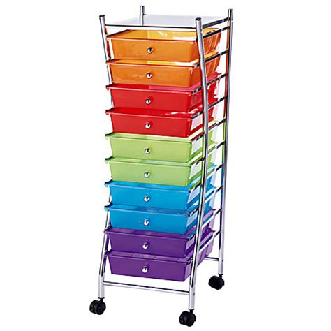 realspace 10 drawer mobile organizer 37 34 h x 13 18 w x