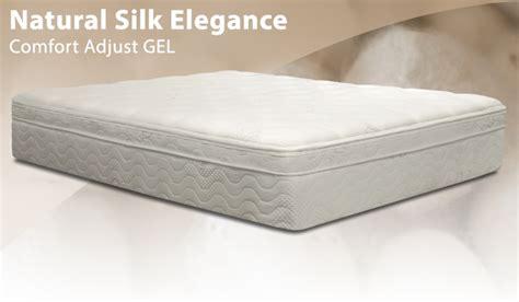 bed in abox bedinabox natural silk elegance comfort adjust gel