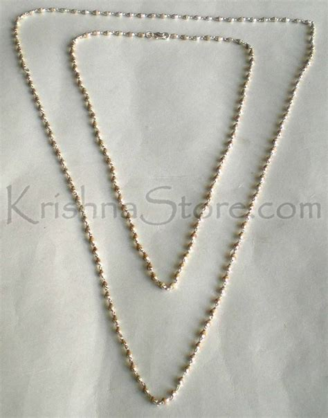 sterling silver tulsi necklace small