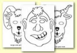 printable masks three billy goats gruff the three billy goats gruff resources primary treasure chest