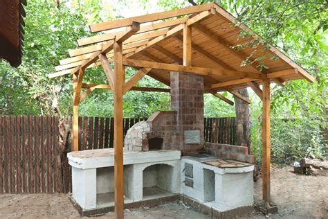 outdoor kitchen with shelter outdoor kitchen building a pizza oven roof