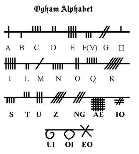 printable ogham alphabet 16 besten ancient alphabet tattoos bilder auf pinterest