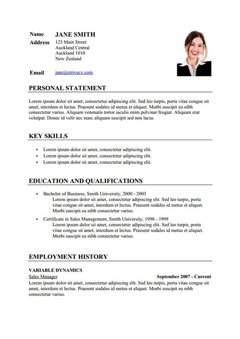 Exle Of Cv Resume Sle Cv Resume Template Via Format Curriculumvitae