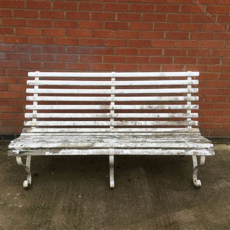 antique garden bench antiques atlas pair of vintage garden benches