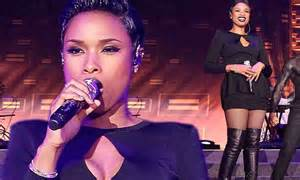 jennifer hudson shows off her lithe legs in over the knee leather