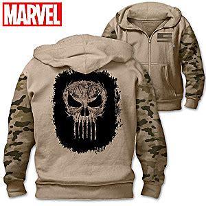 Jaket Zipper Hoodie Sweater Punisher Hitam 3 marvel the punisher mens cotton blend knit hoodie