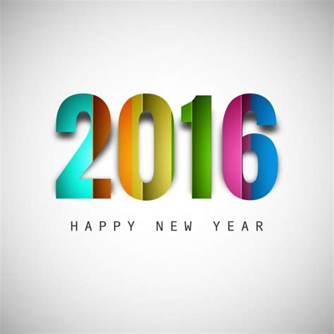 new year 2016 vector free colorful new year 2016 text vector free