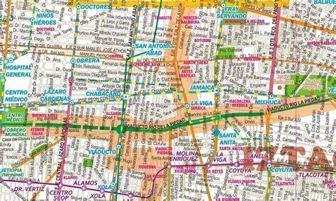 D F Df mapa plano ciudad de m 233 xico d f cdmx viajes mural 299