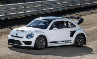 new beetle rally car volkswagen reveals more potent 2015 beetle rallycross car