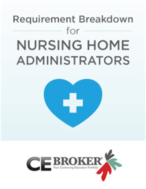 nursing home administrator requirements ce broker