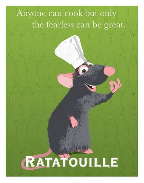 quotes film chef 8x10 ratatouille remy pixar print graphic quote wall art