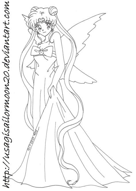 Queen Serenity Of The Moon Kingdom By Usagisailormoon20 On Sailor Moon Princess Serenity Coloring Pages Free Coloring Sheets