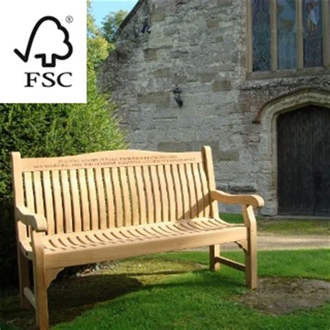teak memorial benches memorial benches fsc teak bench 1500