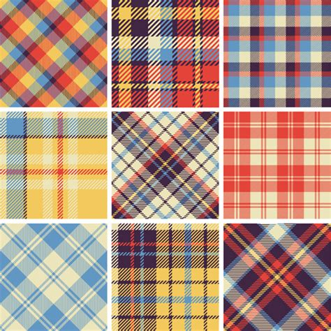 tartan pattern plaid fabric patterns seamless vector 23 vector pattern