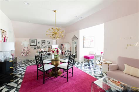 rachel parcell home rachel parcell pink peonies office reveal pink