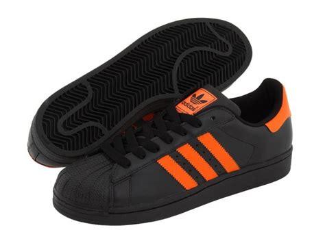 shoes adidas originals superstar 2 schwarz orange