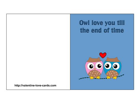 free love printable greeting cards love cards with owls