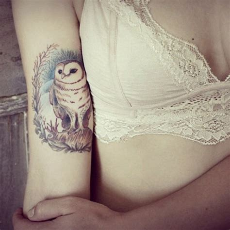 owl tattoo arm girl owl tattoos truetattoos
