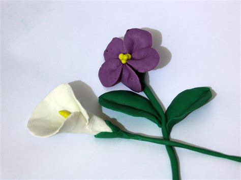 how to make clay flowers at home www imgkid the