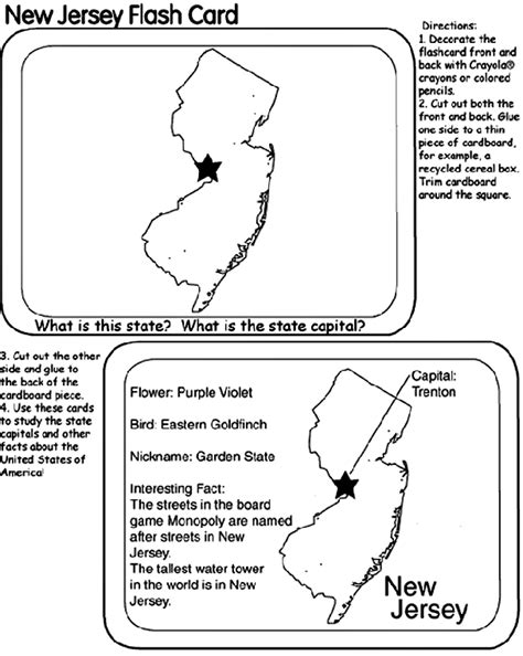 new jersey state facts flashcards quizlet us state flash cards new jersey crayola ca
