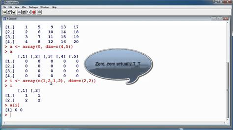 video tutorial r r tutorial 6 arrays and matrices statistical