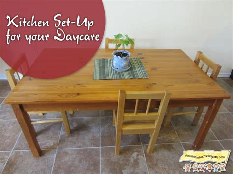 setting up your kitchen for your home daycare how to run