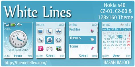 crime line for nokia c1 01 c2 00 2690 128 215 160 white lines theme for nokia c1 01 c2 00 themereflex
