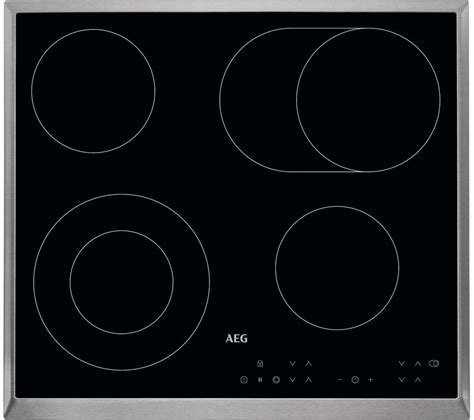electric induction or ceramic hob aeg hk634060xb electric hobs in black stainless steel