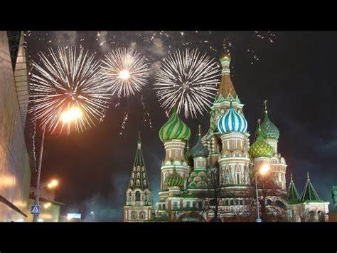 moscow russia fireworks 2018 i new year celebration i hd