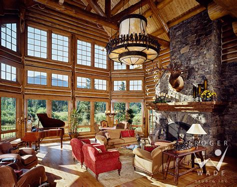 great home interiors roger wade studio interior photography luxury log home great room bestofhouse net 1981