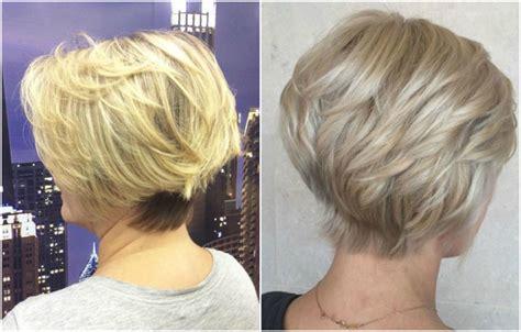 style frisuren ab  stufig kurzhaarschnitt blondtoene