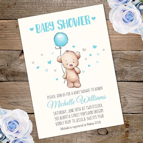 Teddy Baby Shower Invitation Template Free by Teddy Baby Shower Invitation Printable Edit With