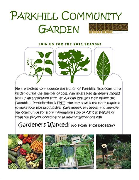 flyer templates gardening roots of peace community garden project garden flyer