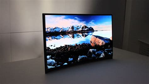 Tv Oled Samsung Samsung Exhibits Curved Oled Tv At Ces Flatpanelshd