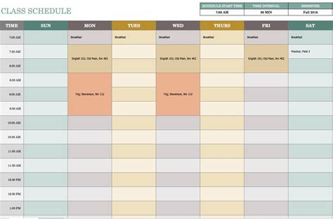Free Weekly Schedule Templates For Excel Smartsheet Weekly Schedule Template