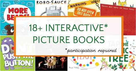 interactive picture books beyond lift the flap interactive picture books for