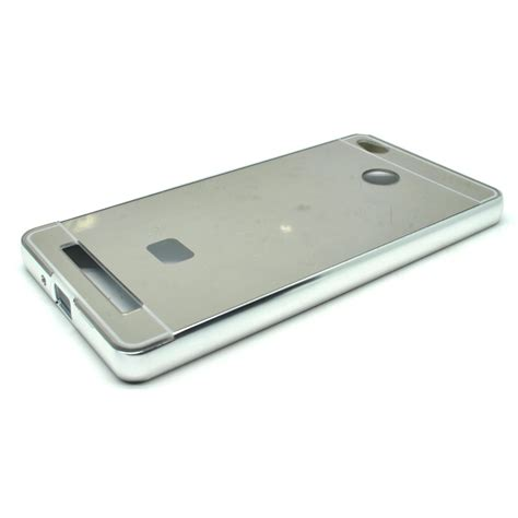 Aluminium Bumper With Mirror Back Cover For Xiaomi Redmi Note 3note 3 aluminium bumper with mirror back cover for xiaomi redmi 3 pro silver jakartanotebook