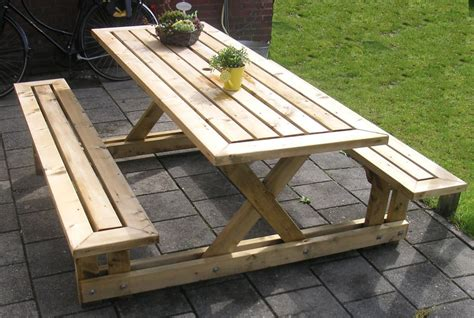 woodwork plans  build  wooden picnic table  plans