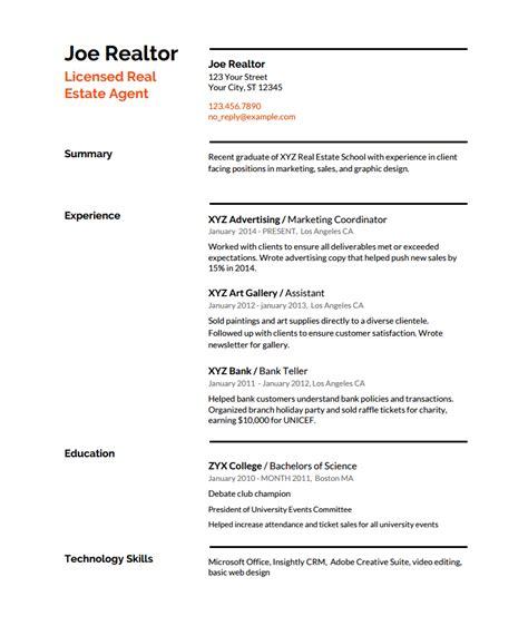 sample realtor resume sample realtor resume real estate resume