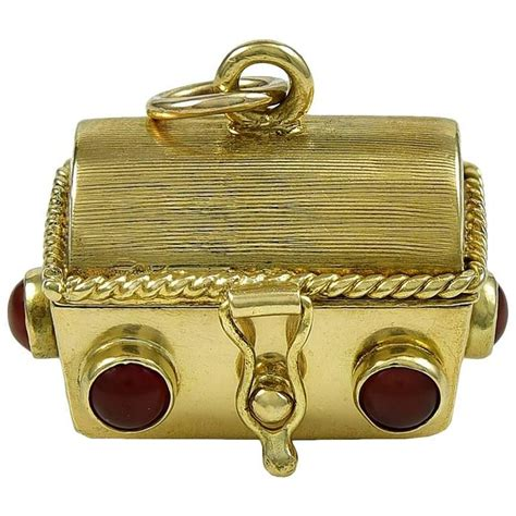 gold treasure chest charm with dice for sale at 1stdibs