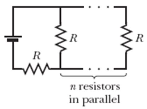 resistance in parallel and series questions in the figure an array of n parallel resistors is chegg
