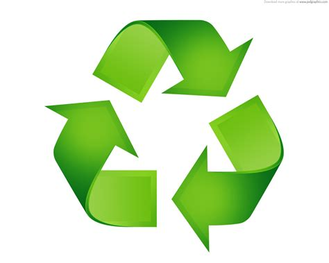 recycle sign template green recycling symbols psdgraphics