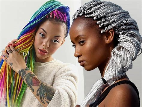 Hair Style Doll Heads With Different Colors by 35 Awesome Box Braids Hairstyles You Simply Must Try