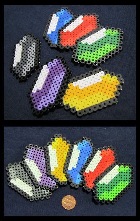 zelda rupee pattern legend of zelda rupees perler beads by kin karo on