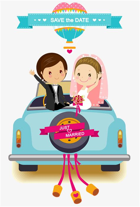 Wedding Car Vector Free by Wedding Car Background Vector Material